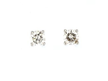 0.37 ctw Diamond Stud Earrings