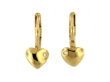 Heart French Back Earrings