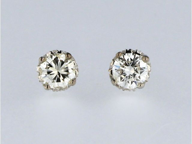 0.58 ctw Diamond Stud Earrings