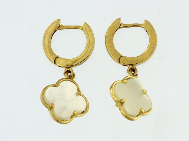 Mother of Pearl Quatrefoil Earrings