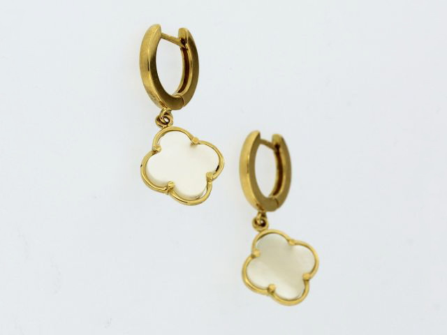 Mother of Pearl Quatrefoil Earrings