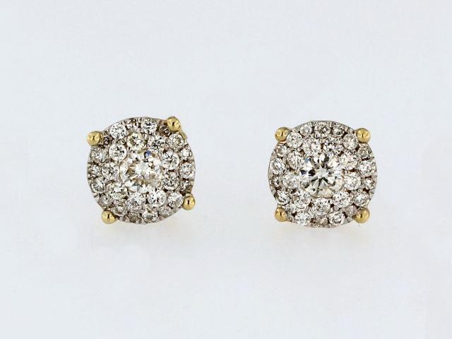 Yellow Gold Diamond Studs