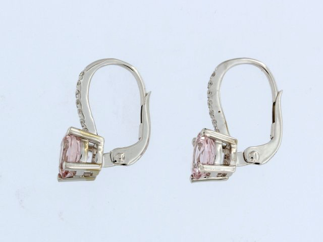 Morganite & Diamond Earrings