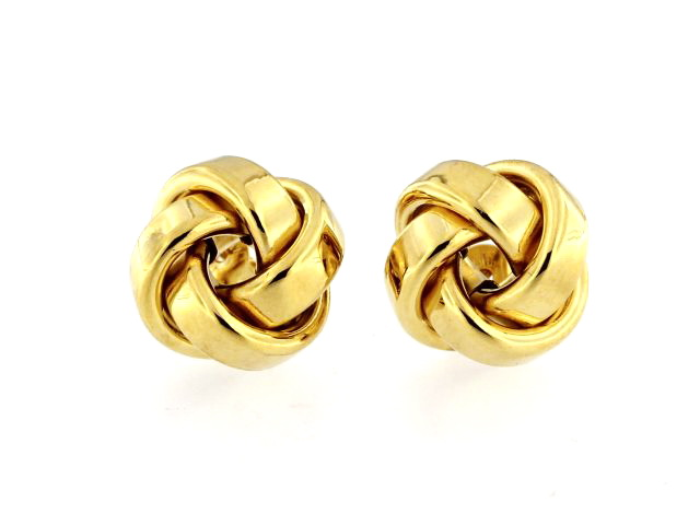 10KT Knot Earrings