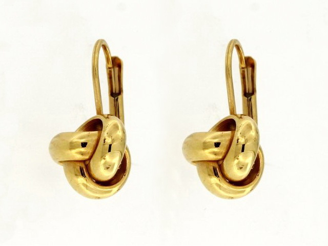 Lever Back Knot Earrings