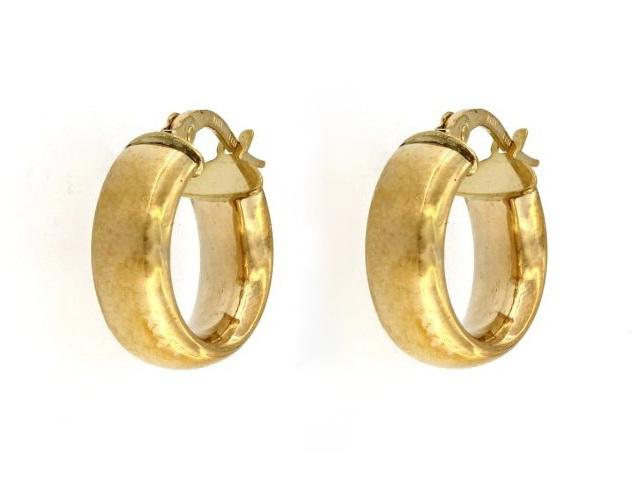 Domed Hoop Earrings