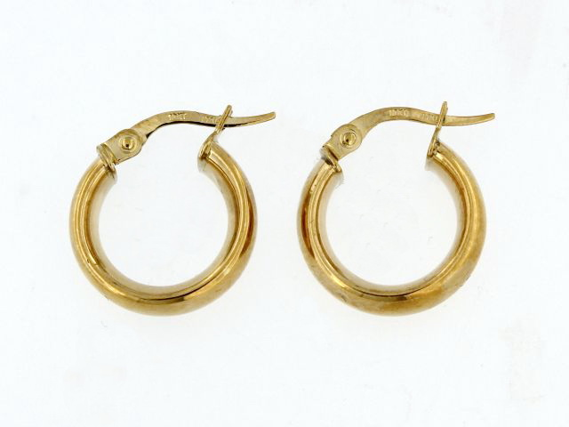 Domed Hoop Earrings
