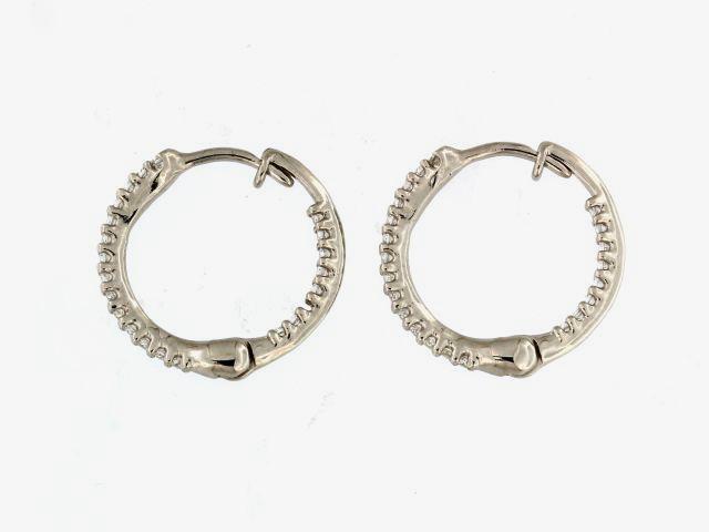 Cubic Hoop Earrings
