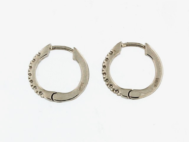 Cubic Hoop Earrings