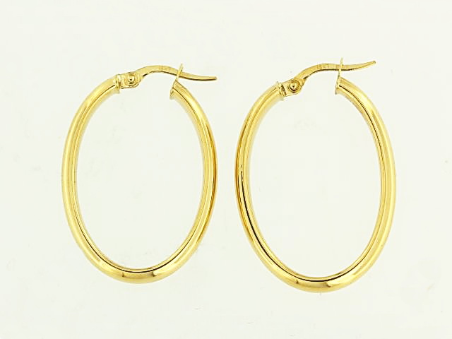 18KT Large Oval Hoops