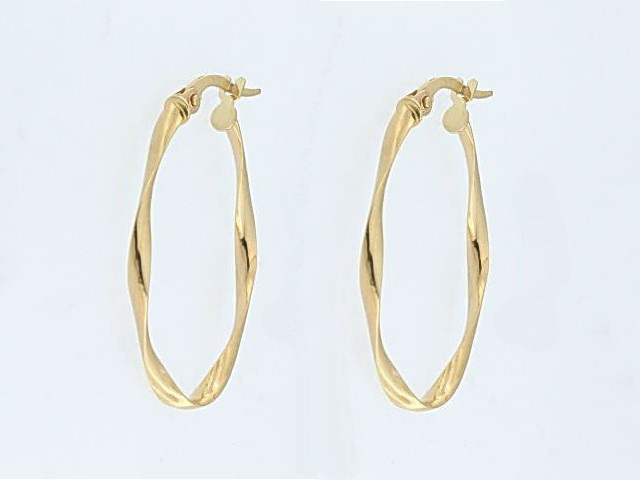 10KT Small Twist Earrings