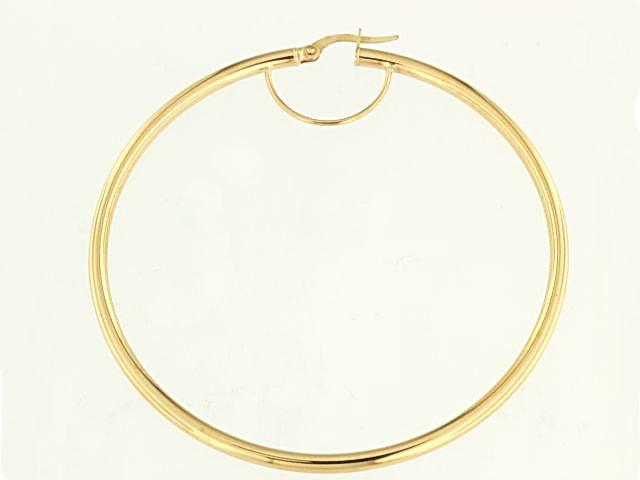 10KT Large Hoop Earrings