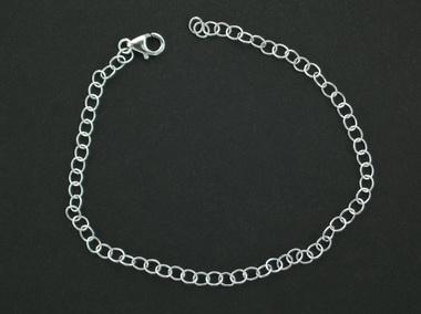 Bflower Silver Charm Bracelet