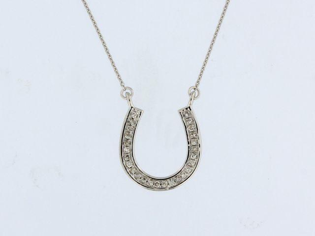 Horseshoe Pendant with Diamonds