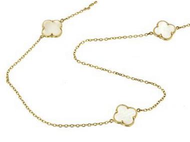 30 inch Quatrefoil Necklace