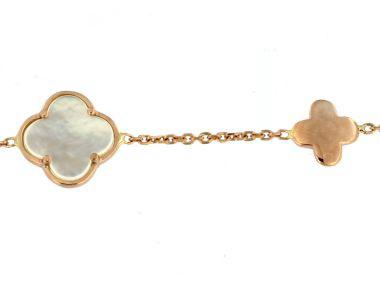 Rose Gold Quatrefoil Necklace