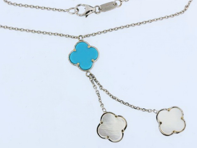 18KW Turquoise & M.O.P. Necklace