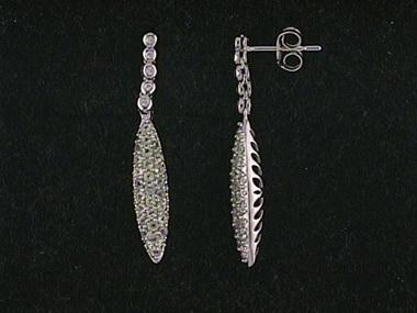 14kw Peridot Pave Drop Earrings