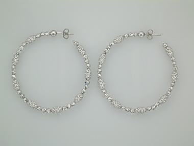 Large White Mars & Gothic Earring