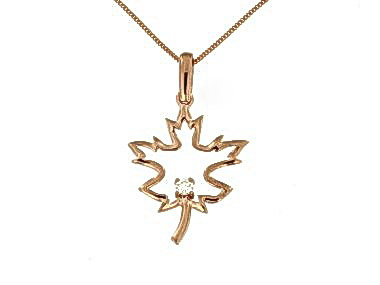 Canadian Maple Leaf Necklace