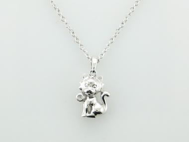 Silver Kitten Necklace