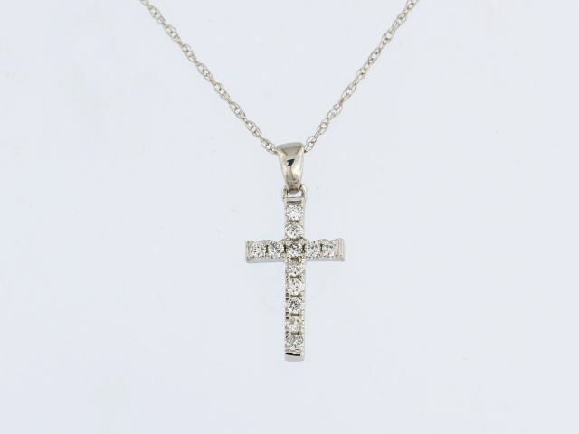 14KW Diamond Cross & Chain