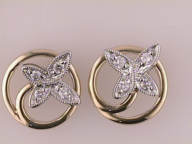 14kyw .15ctw Butterfly Earrings