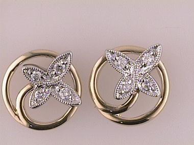 14kyw .15ctw Butterfly Earrings