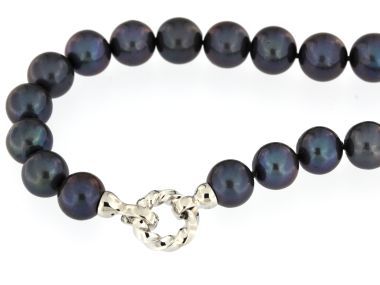 Large Black Pearl Necklace