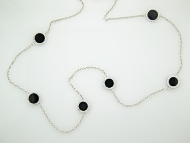 Onyx Circles Necklace