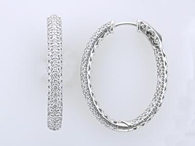 Silver Locking Hoops