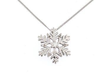 10KT Diamond Snowflake Necklace