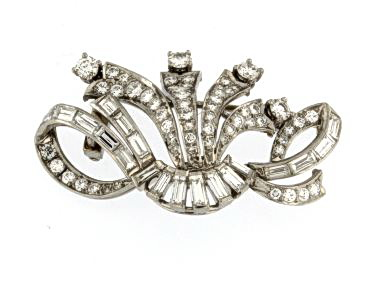Platinum Diamond Brooch