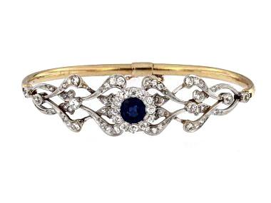 Antique Sapphire & Diamond Bracelet