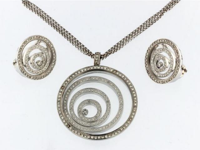 Happy Necklace & Earrings