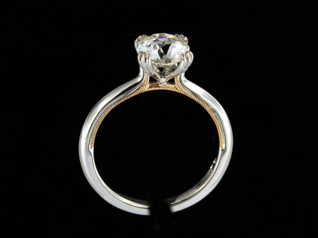 1.58 ct Old Mine Cut Engagement Ring