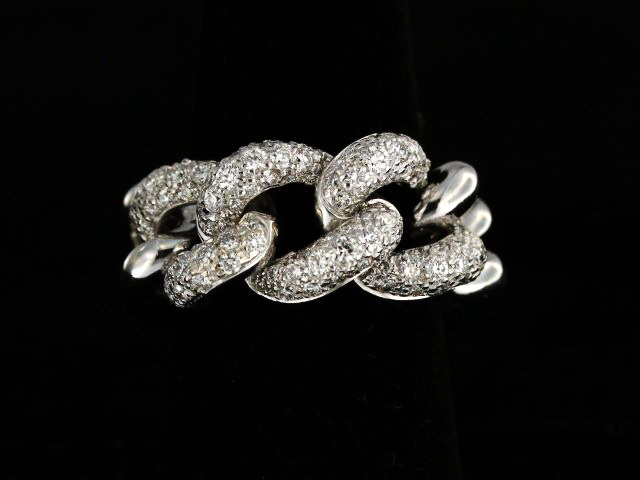 18KT Curb Link Bracelet with Diamonds