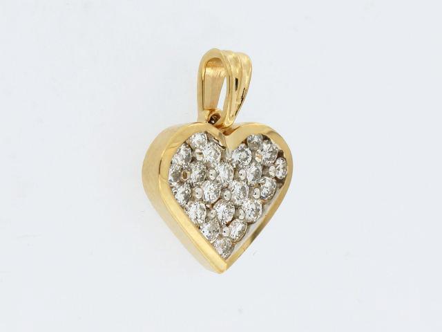 1.30 ctw Diamond Heart Pendant
