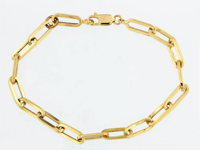 14KT Open Link Bracelet