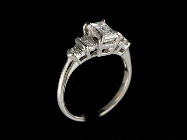 Emerald Cut Ring in Platinum