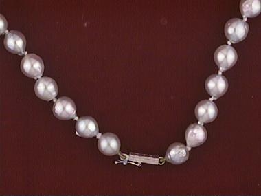 "18"" Baroque Grey Pearl Strand"