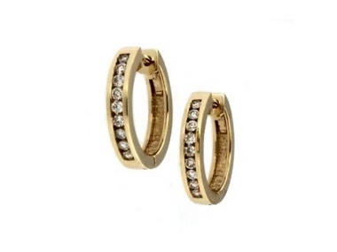 0.33 ctw Diamond Hoops