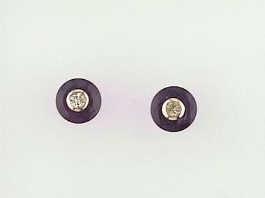 14ky Amethyst Inset Earrings