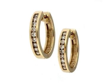 0.50 ctw Diamond Hoop Earrings