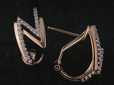 .25ctw Omega Back Hoop Earrings