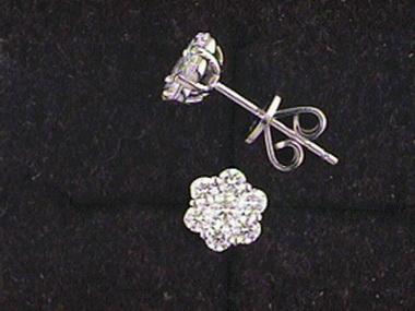 .71ctw Diamond Cluster Earrings