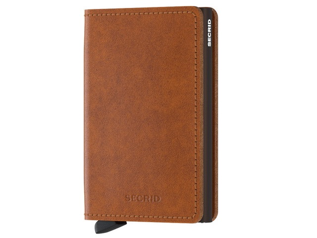 Cognac Slim Wallet