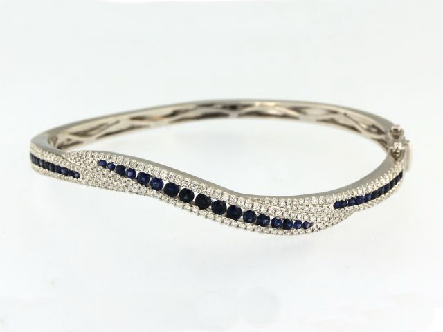 Sapphire & Diamond Bangle