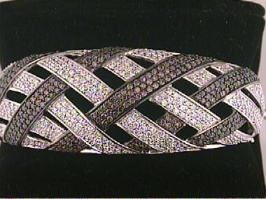 Silver Bracelet With Cubics
