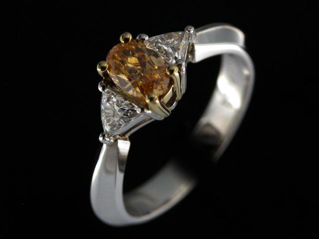 Fancy Yellow-orange Dia. Ring